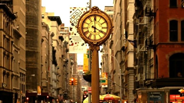 Timelapse - traffic on the streets of New York