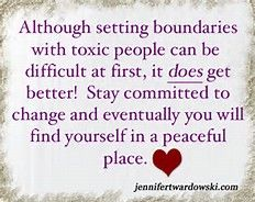 Allow yourself the personal right to disengage, disassociate, and detach. Use your God-given backbone when dealing w/ toxic friends, co-workers, family members or in-laws etc, w/ the understanding that detachment is not a sign that you don't care but that you are doing what is necessary to preserve your personal health and happiness.