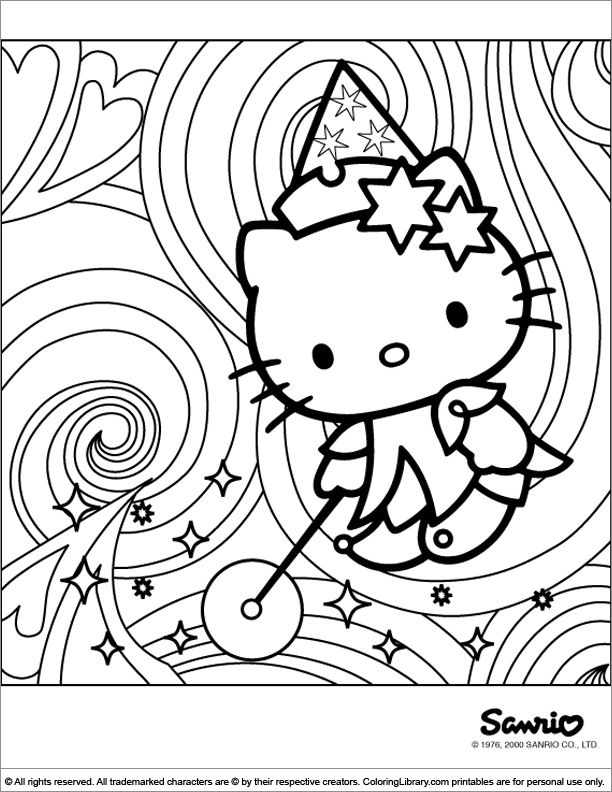 70 Best Hello Kitty Coloring Pages Images On Pinterest