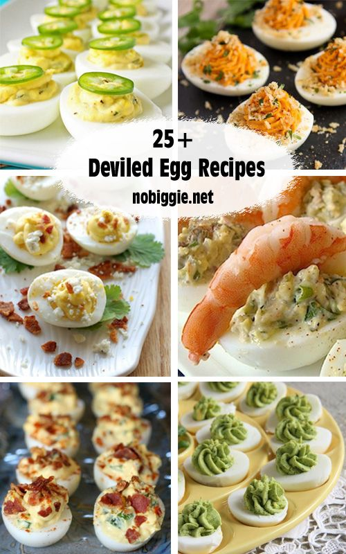 25+ Deviled eggs Recipes | NoBiggie.net (Thanks for including me!)