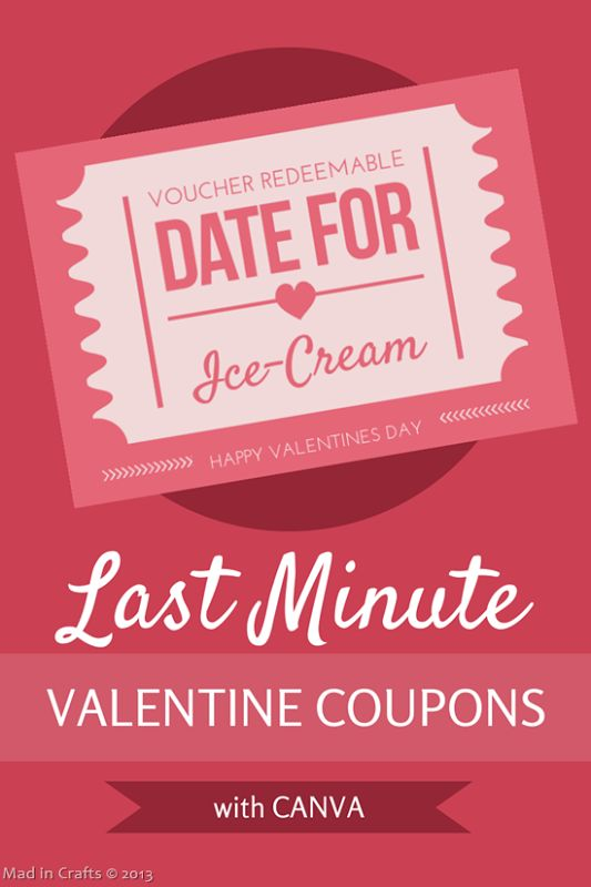 Last Minute Valentine Coupons with Canva - Mad in Crafts