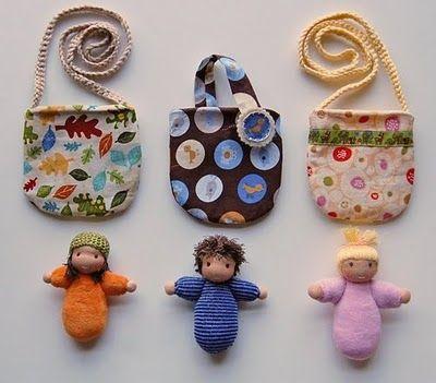Imagina isso de lembrancinha!!!! Pocket babies ... with hair!