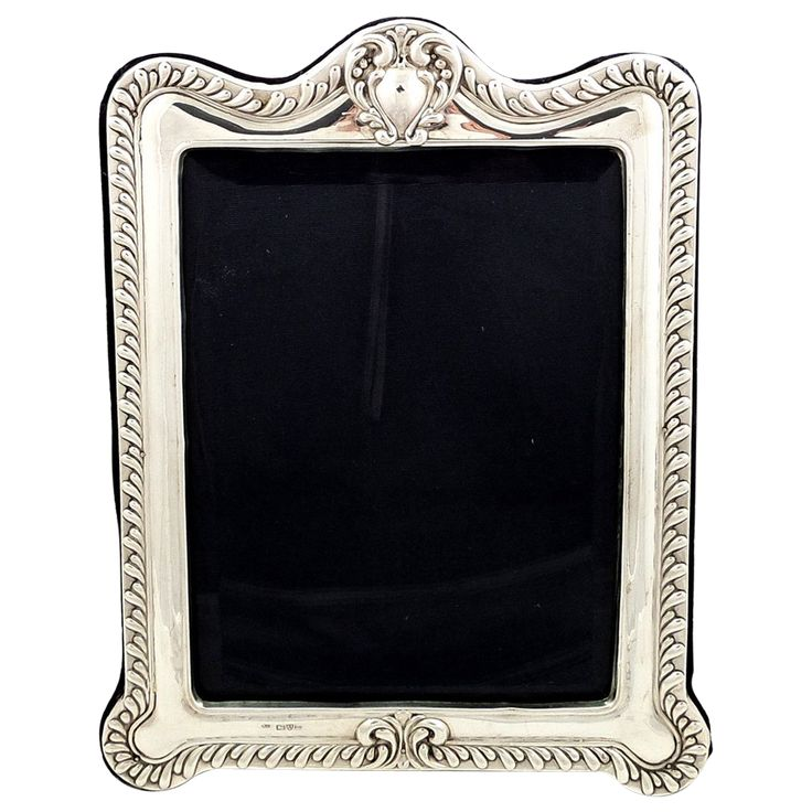 large edwardian sterling silver photo frame 1905
