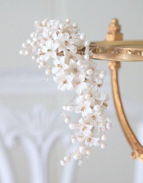 pearl headpiece / tocado de azahar con perlas