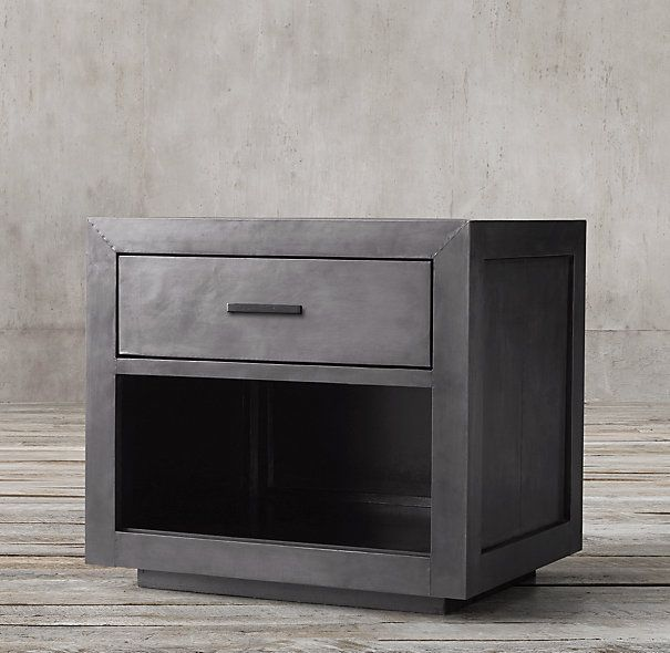 La Salle Metal Wrapped Open Nightstand Nightstand