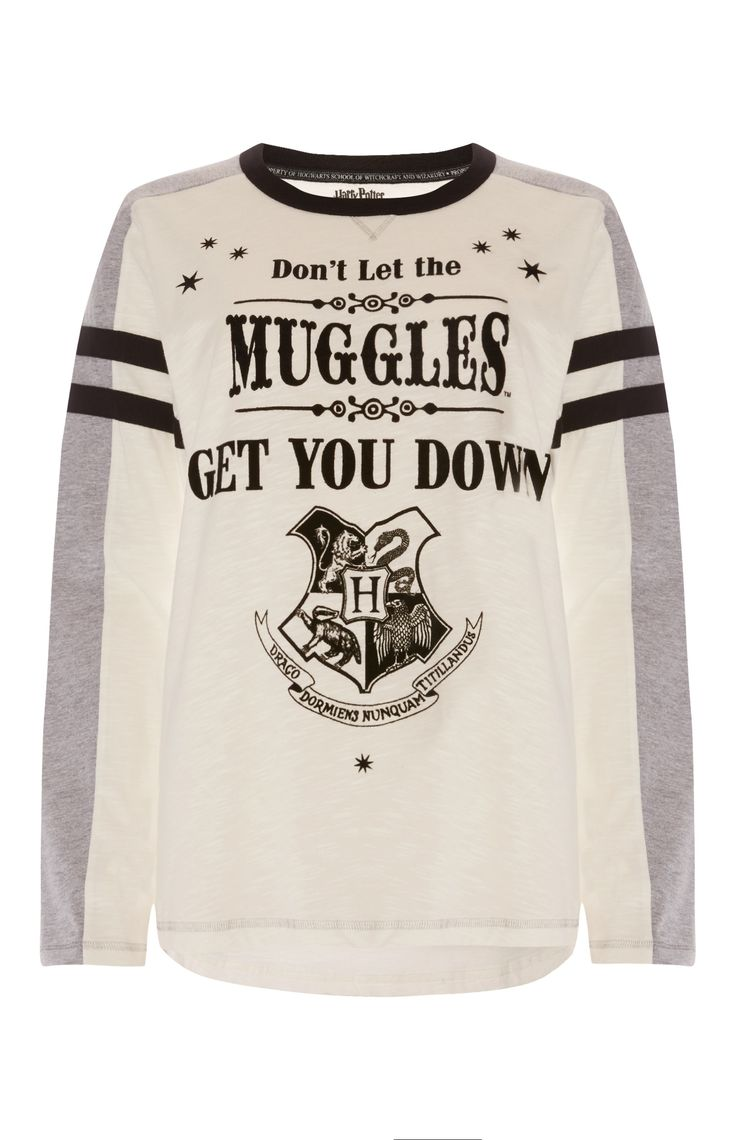 Primark - White Harry Potter Muggles Top