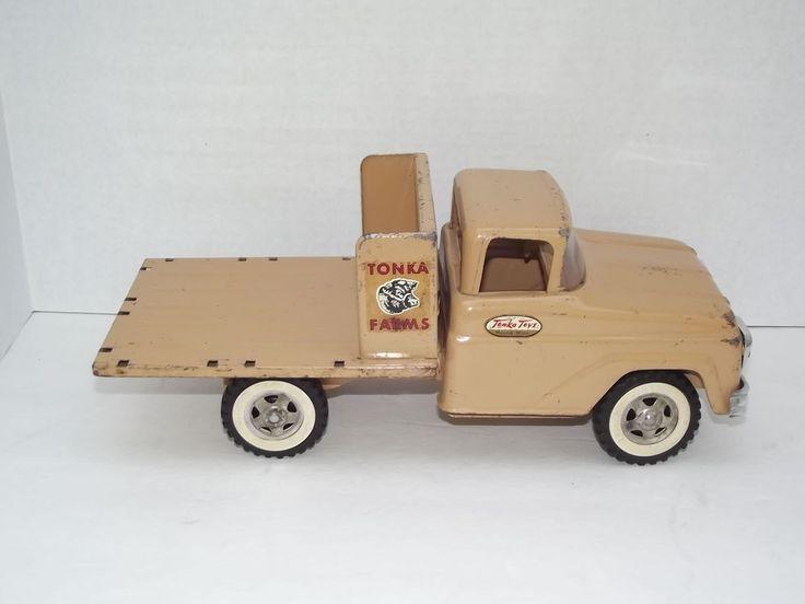 Vintage Toy Trucks Part - 16: Vintage 1959 Tonka Farms Stake Truck Mound Minn