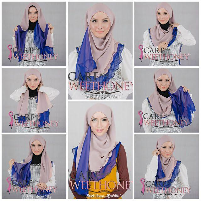 Hijab Tutorial ~ Scarf Sweethoney - Shawl Halfmoon BILQIS