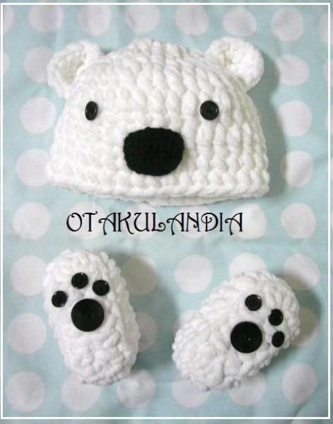 Disfraz bebé oso polar - crochet - artesanum com