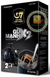 G7 - GU MANH X2 (Trung Nguyen Coffee) 2 in 1 - быстрорастворимый натуральный вьетнамский черный кофе - 12 пакетиков по 20гр. - 240 гр. Вьетнам.