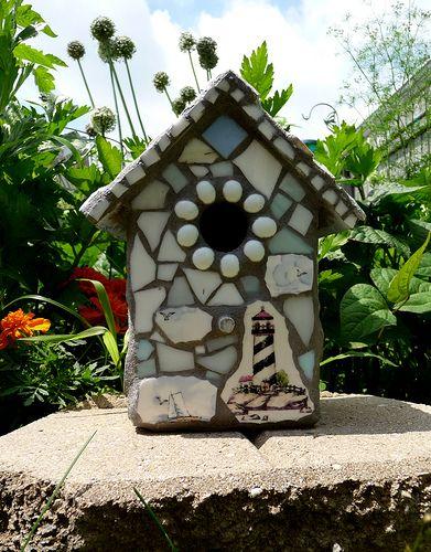 NAUTICAL Birdhouse by Ibreak4glass   Flickr - Photo Sharing!