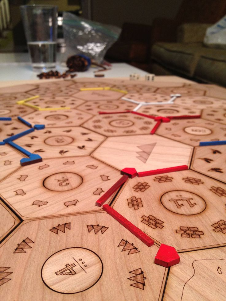 Custom Settlers Of Catan Board Boardgames Pinterest