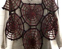 Gotische Plus Size vrouwen Spiderweb Crop Top & wanten, zwangerschaps kleding, Goth Hippie Grunge kleding Halloween kostuum