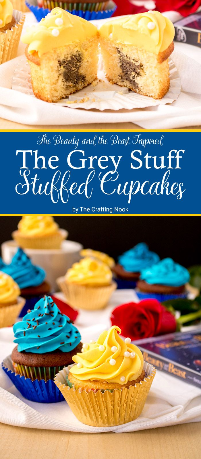Excited about the Beauty and the Beast movie? I totally am! To celebrate it I've made these absolutely delicious The Grey Stuff Stuffed Cupcakes!!! You gotta try the felling!!!