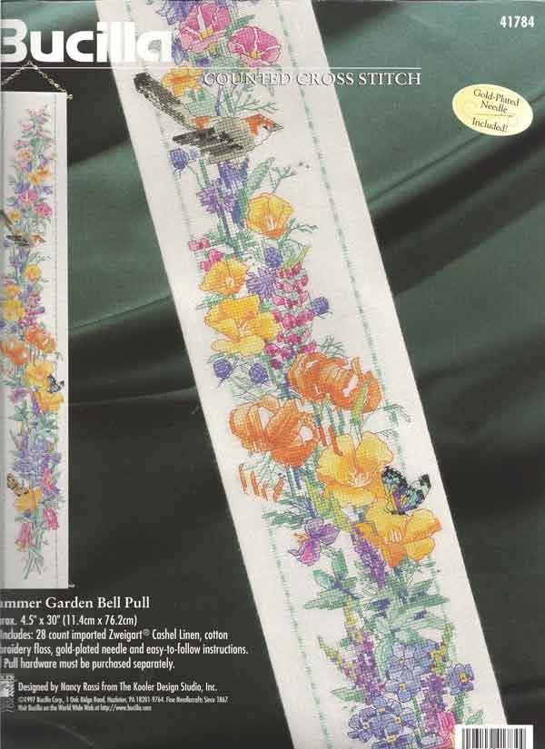 Summer Garden Bell Pull Cross-Stitch Kit - Bucilla. $14.50, via Etsy.