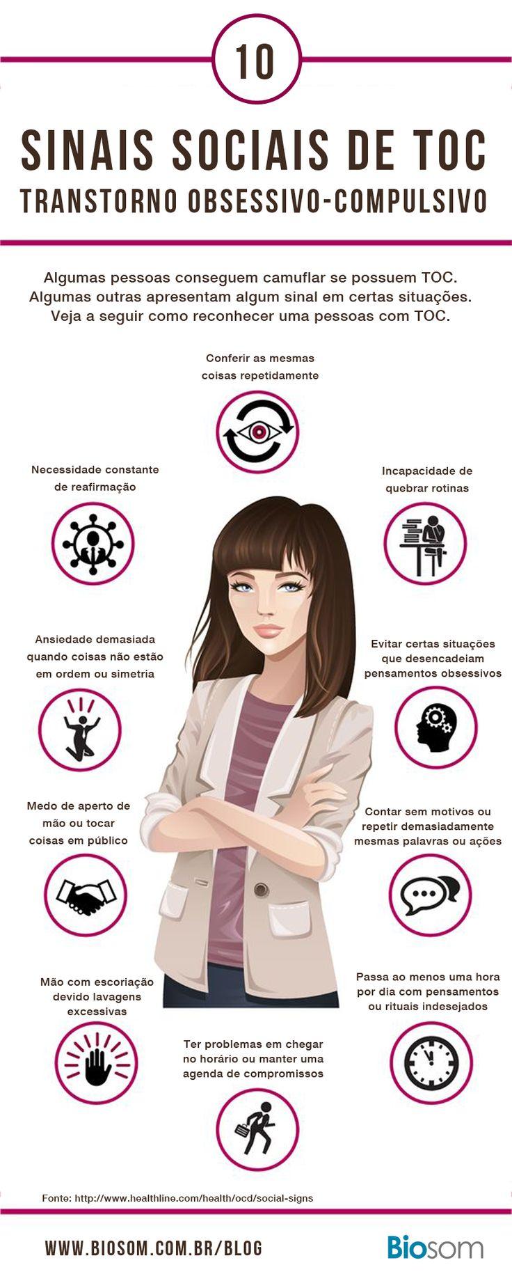 Veja como identificar quem tem TOC O que é Transtorno Obsessivo-Compulsivo. Clique na imagem para ver ainda mais. #toc #TranstornoObsessivoCompulsivo #saúde #comportamento #compulsão #transtornos #bemestar