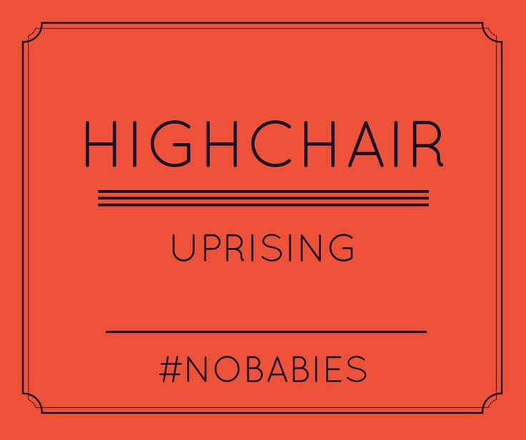 Blog post: No young families allowed in the cafe. Frustration when going out to eat and there are no highchairs, then you get an unpleasant response from the staff. Uprising Bakery.