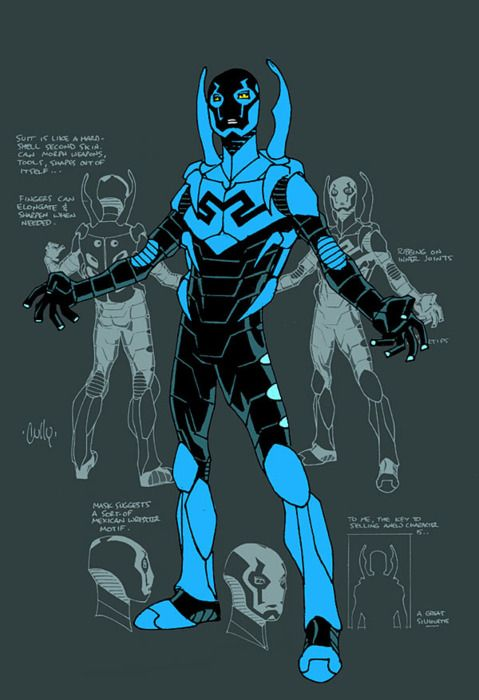 Blue Beetle style sheet by Cully Hamner. Because Blue Beetle is freakin' awesome!