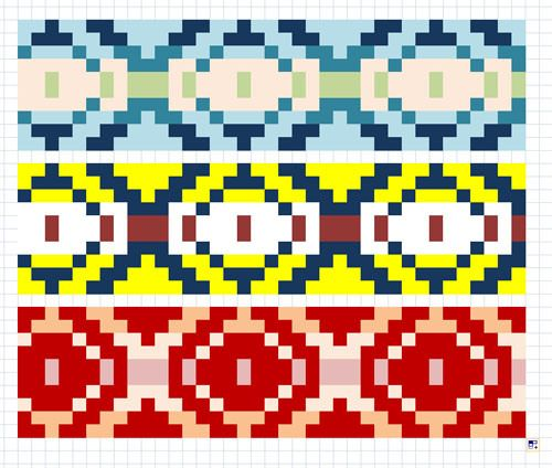 Altering Fair Isle Charts in Excel | A Pile of Sheep