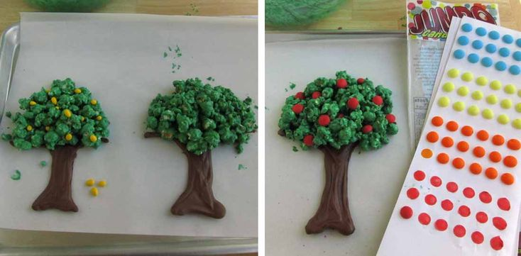 Hungry Happenings: Celebrate Earth Day or Spring by making Chocolate Popcorn Trees