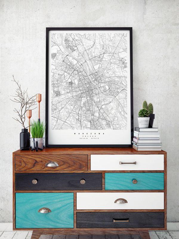 Mapa Warszawa, projekt Maptu - PLN Design
