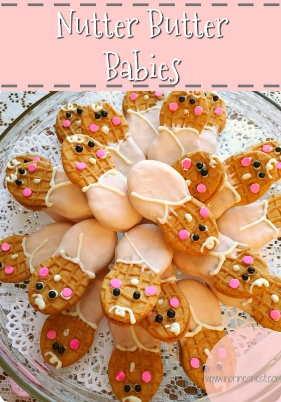 These darling nutter butter babies are dipped in White Chocolate and are so fun to make and so cute to serve at any Baby Shower! I'm sharing my easy tips on how to make these cuties!
