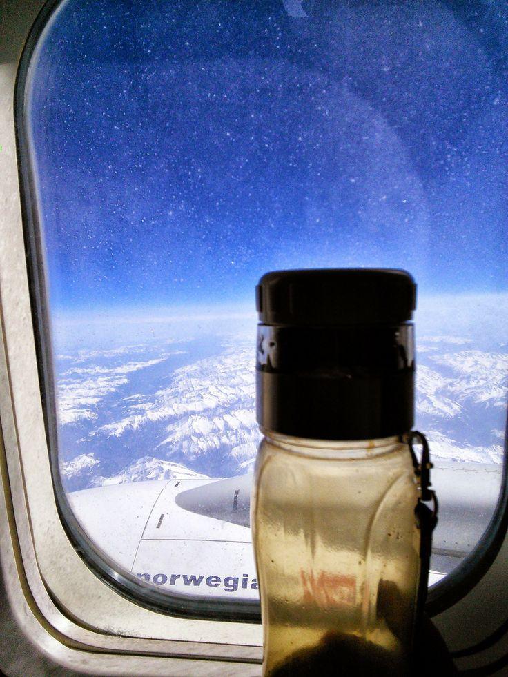 #teflaske over Alpene, mars '14.