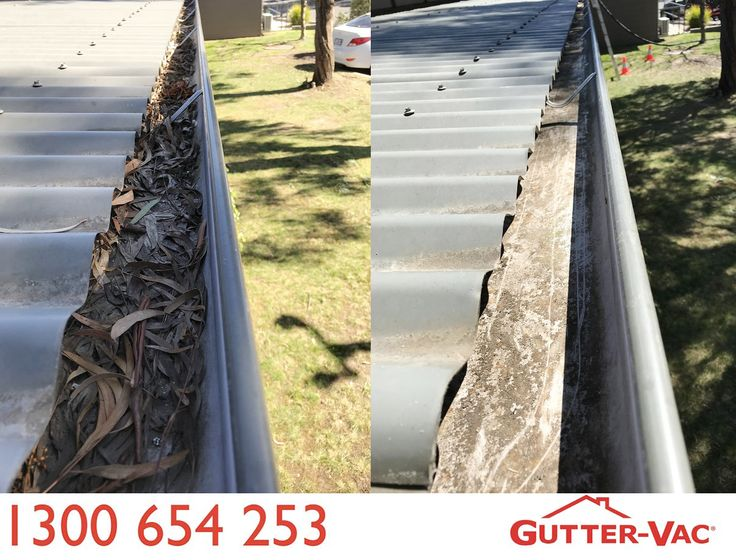 A fantastic before and after from Gutter-Vac Tasmania!