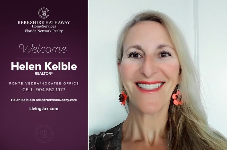BERKSHIRE HATHAWAY HOMESERVICES FLORIDA NETWORKREALTY WELCOMES HELEN KELBLE