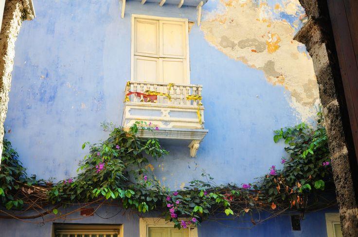 Mur bleu de Carthagène, Colombie