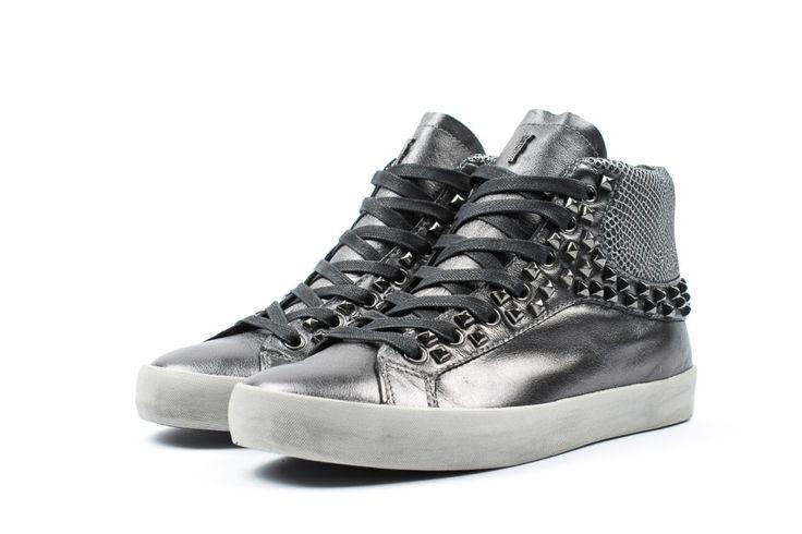 Crime london sneakers argento borchiate immagini