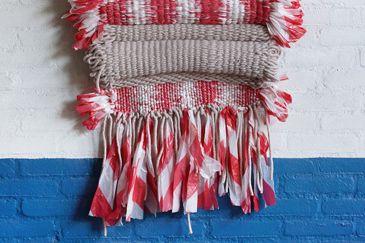 Dienke Dekker | Handloom Textiles | Red Tape | De Rode dread voor zomer 2015 | The Common Thread for Summer 2015 | Report on trend presentation 'Gathering' by Lidewij Edelkoort |