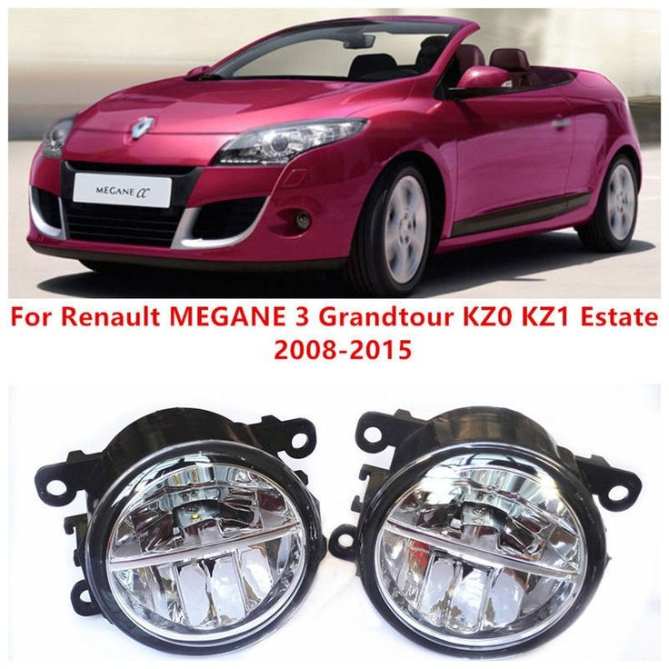 (37.84$)  Buy here - http://aitqa.worlditems.win/all/product.php?id=32581461401 - For Renault MEGANE 3 Grandtour KZ0 KZ1 Estate  2008-2015 Fog Lamps LED Car Styling 10W Yellow White 2016 new lights