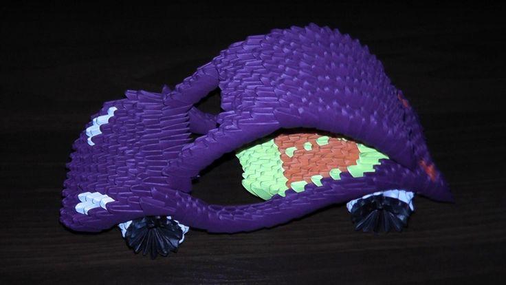 3D origami car tutorial (instruction)