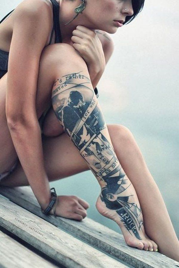 Leg tattoo for women - 65+ Tattoos for Women  <3 !
