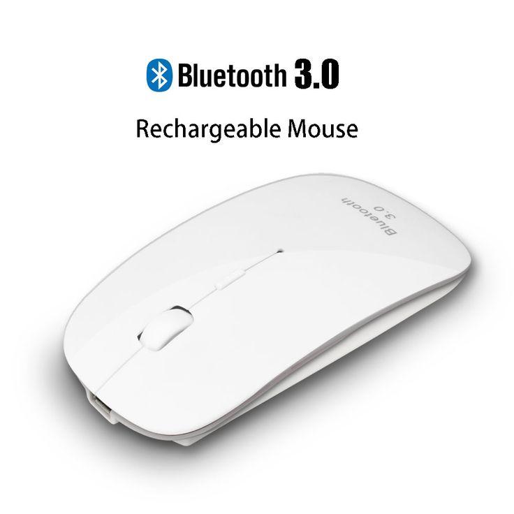 Uhuru Rechargeable USB Bluetooth 3.0 Mouse Nirkabel Bisu Bersuara Klik Diam Mini Optical Mouse 1200 DPI untuk PC Laptop