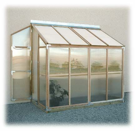 Redwood Lean-To Greenhouse
