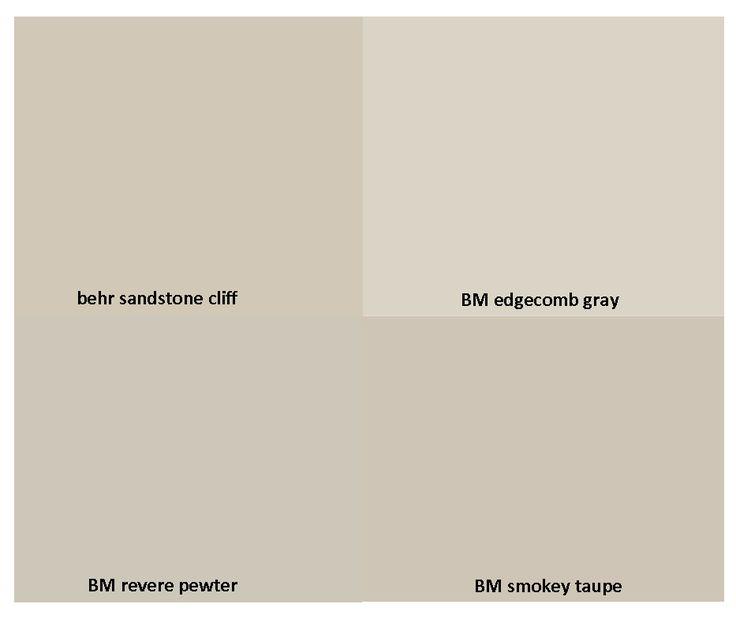 Grey Taupe Paint: Gorgeous Neutrals: Behr Sandstone Cliff / Benjamin Moore