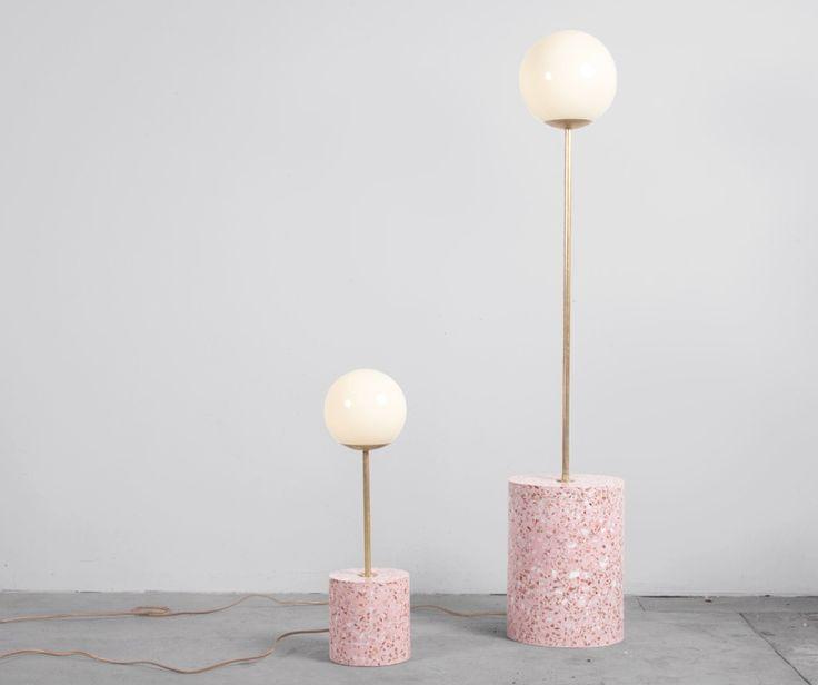 Terrazzo lamps by Carly Jo Morgan