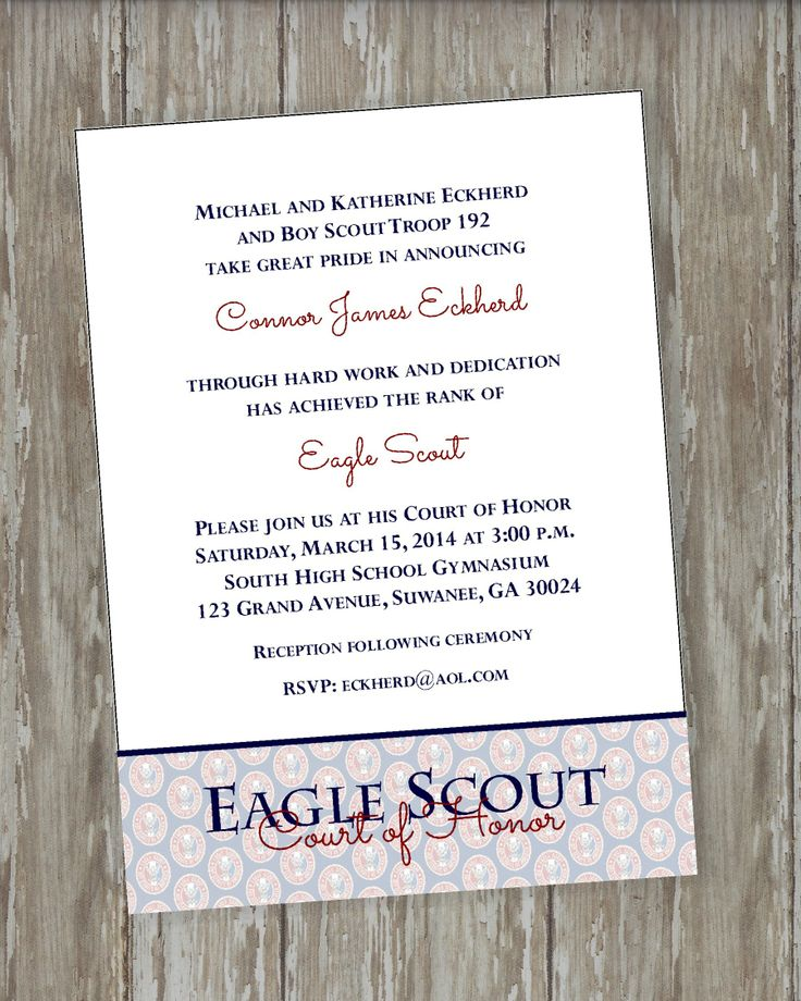 9 best Eagle COH Invitation Wording images on Pinterest Boy - best of invitation wording for year end party