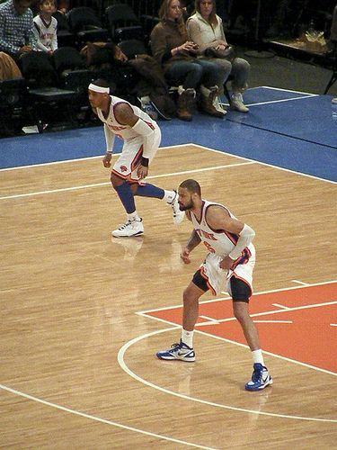 Carmelo Anthony and Tyson Chandler, New York Knicks - http://weheartnyknicks.com/ny-knicks-photos/carmelo-anthony-and-tyson-chandler-new-york-knicks