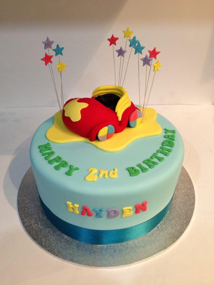 Big red car wiggles birthday cake I made. (Www.tiersofjoy.net.au)