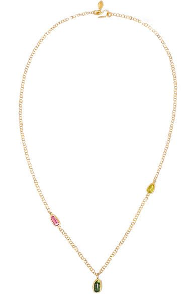 PIPPA SMALL 18-karat gold tourmaline necklace. #pippasmall #