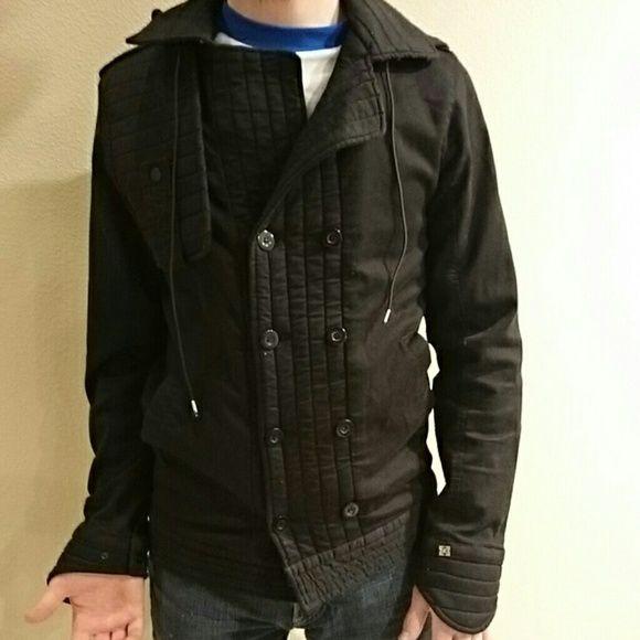"Super rad, skateboarding coat! Krew skateboarding jacket. Lightweight. Detachable hood. Men's size small but looks great on girls!! 99% cotton. 1% spandex. Can relist ""for sale"", if interested. Krew Jackets & Coats"