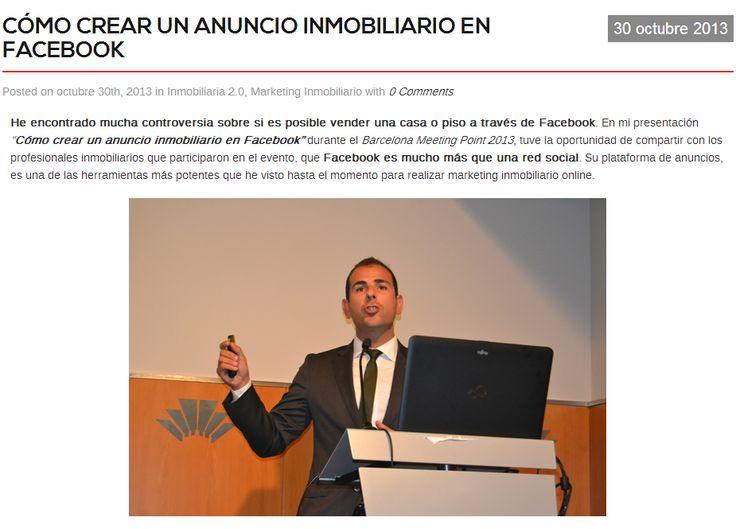 Cómo crear un anuncio inmobiliario en Facebook por Carlos Rentalo http://www.carlosrentalo.es/como-crear-un-anuncio-inmobiliario-en-facebook/