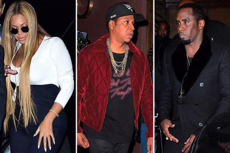 Beyonce Looks Busty As She Parties With Husband Jay Z And P Diddy At Snl After Party In New York  #beyonce #jayz #diddy #pdiddy