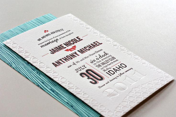 ini model kartu undangan pernikahan letterpress yang paling gueh sukai