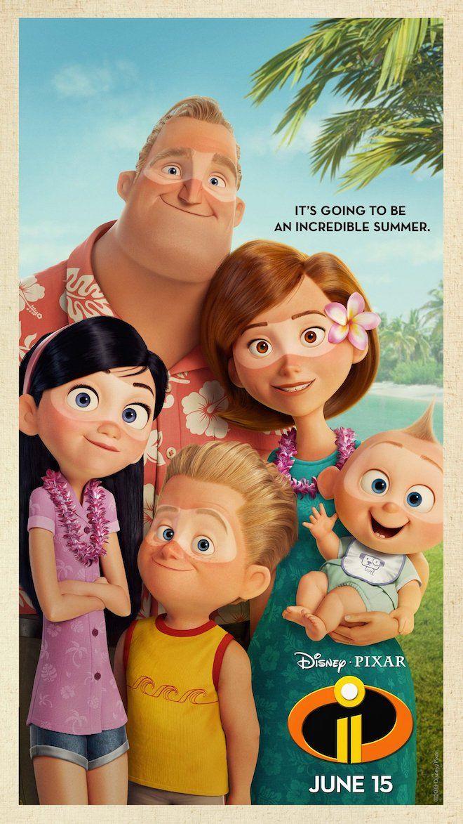 Nuevo Póster Playero De Los Increíbles 2 Cinemanía Los Increibles Personajes Increibles Pixar Violeta Los Increibles