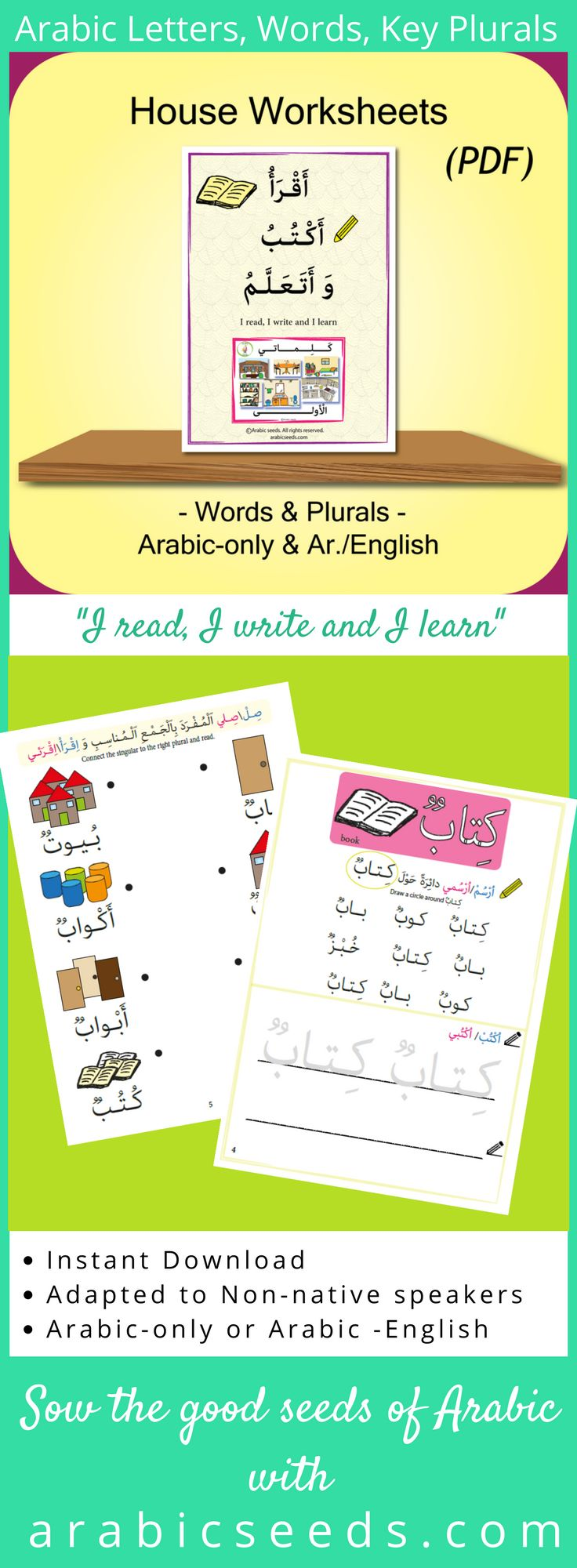 Best 20 arabic alphabet for kids ideas on pinterest arabic 4 arabic words writing and readingsingular plural matching cut paste robcynllc Gallery
