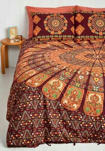 bohemian bliss duvet cover set in burgundy fullqueen suite dreams are made of this the cozy cotton and majestic print of this duvet set by karma